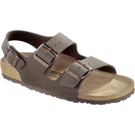 Birkenstock Milano Sandals Birko-Flor Birkibuc Regular, mocha